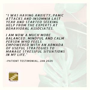 Patient Testimonial from Behavioral Associates